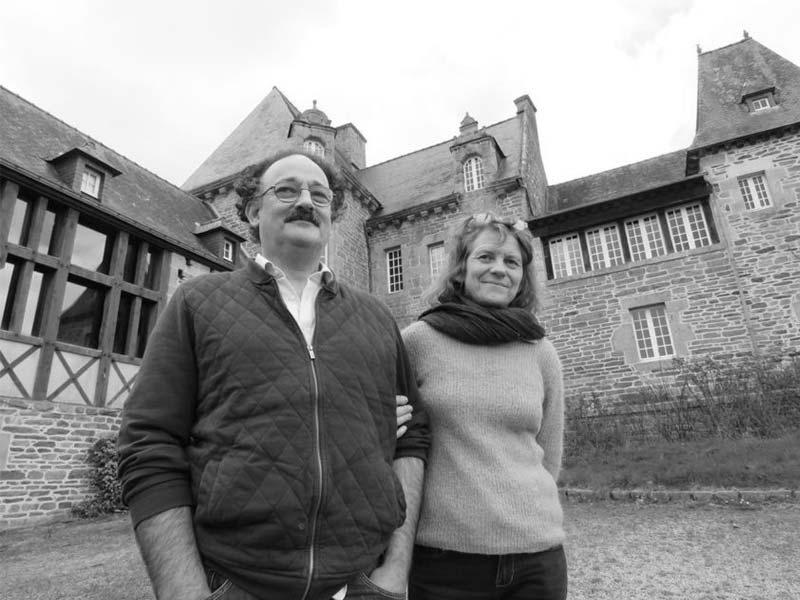 Photo de Alan et Armelle Fustec au château de Brélidy - Kerlotec